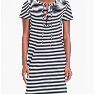 J. Crew Stripe lace-up knit dress